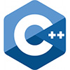 Logo of C++ - colored