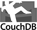 Logo of CouchDB - greyscale