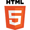 Logo of Html5 - colored