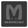 Logo of Memcached - greyscale