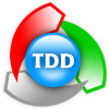 Logo of TDD - colored